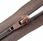 Nylon spiral zip fasteners T7 / 50cm - colour brown